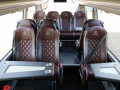 luxury minibus with tables to hire in birmingham