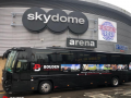 luxury sports team coach hire with a driver