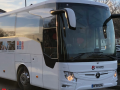 luxury coach to hire with a driver