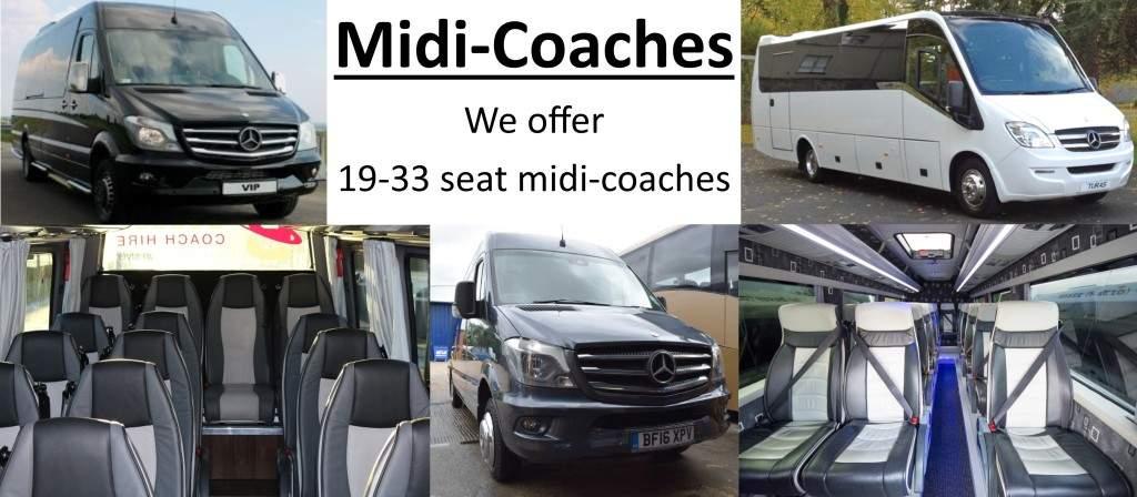 Luxury Midi-coaches 19-33 seat coaches