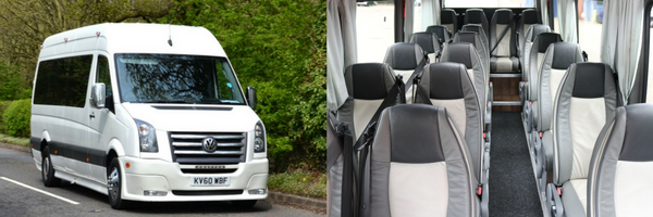 executive race day minibus hire