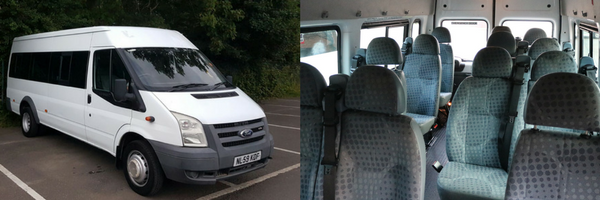 standard race day minibus hire