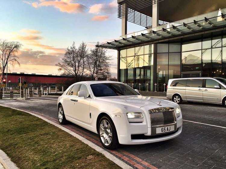 luxury Rolls Royce Phantom car hire with driver for special occasions