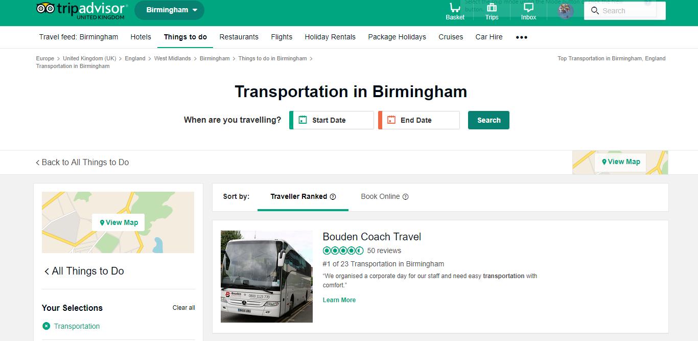 best coach hire company in Birmingham